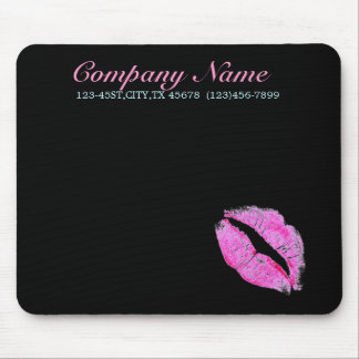 hot pink kiss Makeup Artist Business Mouse Pad