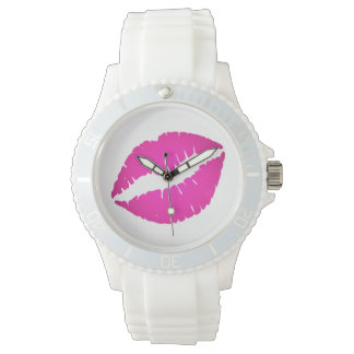 Hot Pink Kiss Watch