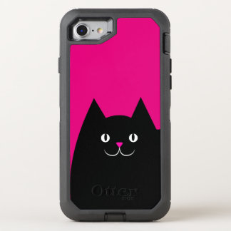 Hot Pink Kitty Cat OtterBox Defender iPhone 8/7 Case