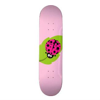 Hot Pink Ladybug Skateboard