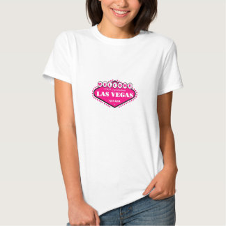 Hot PINK  Las Vegas Logo Ladies Baby Doll Tee