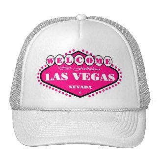 HOT PINK Las Vegas Sign Cap Hats