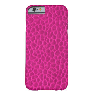 Hot Pink Leather Texture Barely There iPhone 6 Case