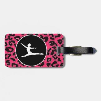 Hot Pink Leopard Print; Ballet Dancer Luggage Tag