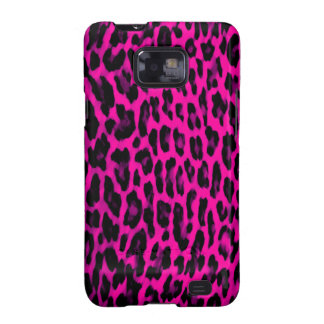 Hot Pink Leopard Print Samsung Galaxy SII Cover