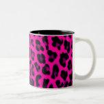 Hot Pink Leopard Print Coffee Mugs