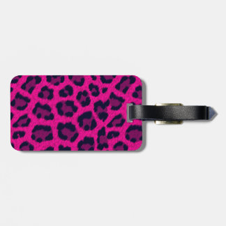 Hot Pink Leopard Print Luggage Tag