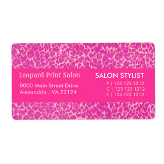 Hot Pink Leopard  Print Shipping Label