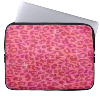 Hot Pink Leopard Print Skin Laptop Sleeves