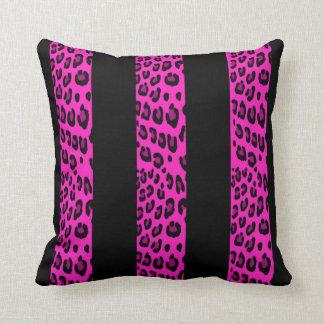 Hot Pink Leopard Stripes Cushion