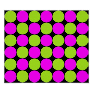 Hot Pink & Lime Green Polka Dots Poster
