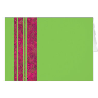 Hot Pink & Lime Stripe Blank Note Greeting Card