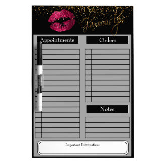 Hot Pink Lipstick Dry Erase Board