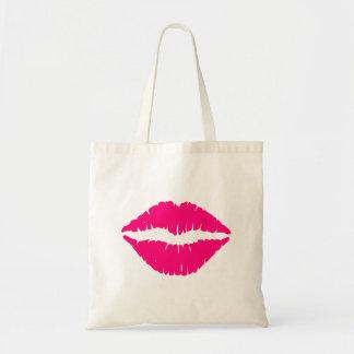 Hot Pink Lipstick Tote Bag