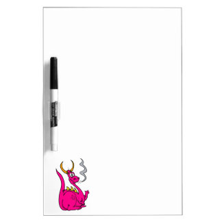 Hot Pink Little Dragon Cute.png Dry-Erase Whiteboard