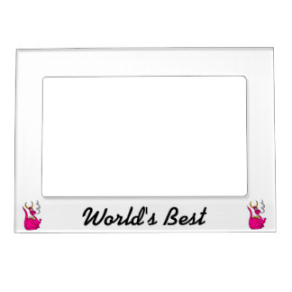 Hot Pink Little Dragon Cute.png Magnetic Picture Frames