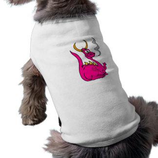 Hot Pink Little Dragon Cute png Pet Tee
