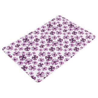 Hot Pink Lucky Shamrock Clover Floor Mat