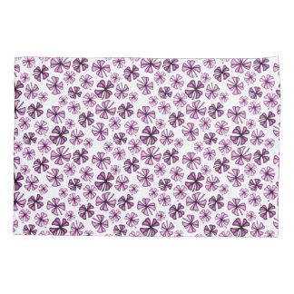 Hot Pink Lucky Shamrock Clover Pillowcase