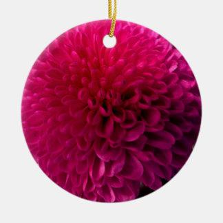 Hot Pink Macro Flower Ornament