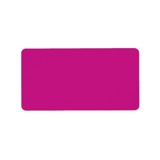 Hot Pink Magenta Fuchsia Solid Colour Background Label