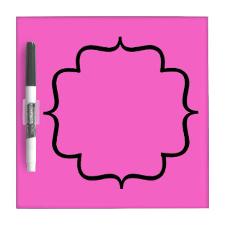 Hot Pink Magnetic Fridge Dry Erase Board with Pen