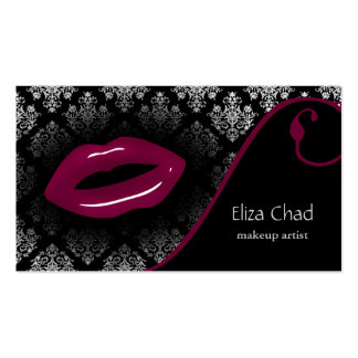 hot pink Makeup artist Business Cards