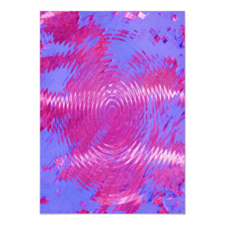 HOT PINK MELTED WATER DRIPS ABSTRACT RANDOM DIGITA 13 CM X 18 CM INVITATION CARD