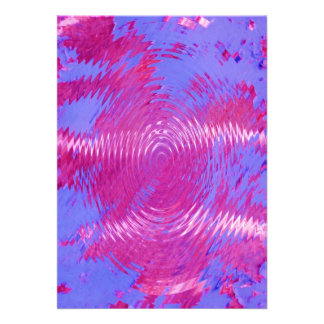 HOT PINK MELTED WATER DRIPS ABSTRACT RANDOM DIGITA PERSONALIZED INVITES