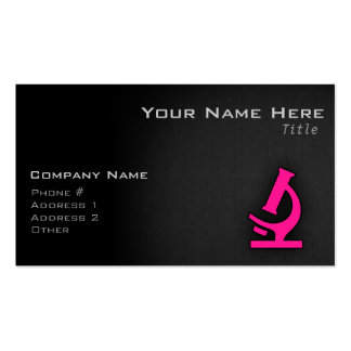 Hot Pink Microscope Business Cards