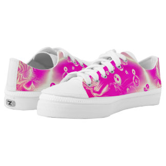Hot Pink Modern Trendy Pattern Low Tops