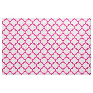 Hot Pink Moroccan Trellis Pattern Fabric