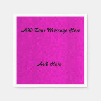 Hot Pink Mosaic Tiles Template. Paper Serviettes