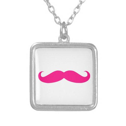 Hot Pink Mustache Templates Custom Jewelry