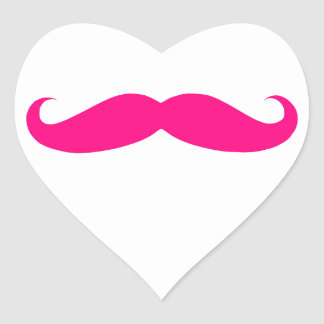 Hot Pink Mustache Templates Stickers