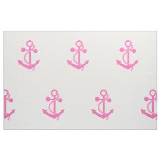 Hot Pink Nautical Anchor Fabric
