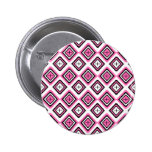 Hot Pink Navajo Inspired Pattern 6 Cm Round Badge