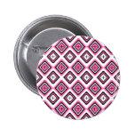Hot Pink Navajo Inspired Pattern 6 Cm Round Badge