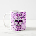Hot Pink on Pink - Day of the Dead Sugar Skull