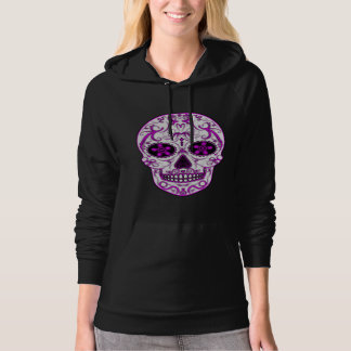 Hot Pink on Pink - Day of the Dead Sugar Skull Pullover