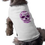 Hot Pink on Pink - Day of the Dead Sugar Skull Sleeveless Dog Shirt