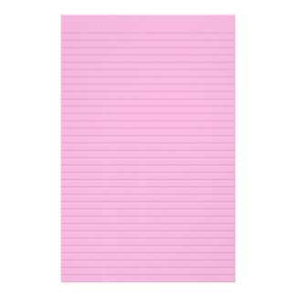 Hot pink  optional line stationery