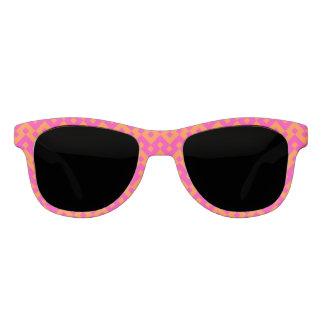 Hot Pink, Orange Islamic Mosaic Chevron Pattern Sunglasses