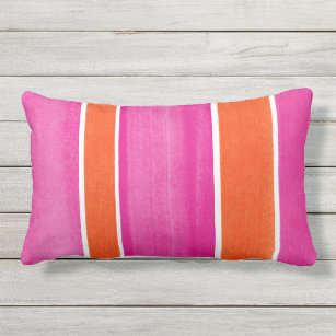 Hot Pink And White Stripes Cushions Decorative Amp Throw