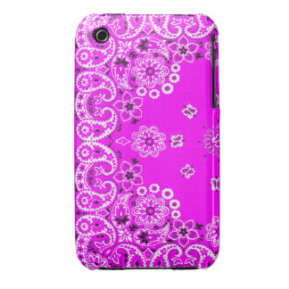 Hot pink paisley bandanna iPhone 3G/3Gs cover iPhone 3 Case