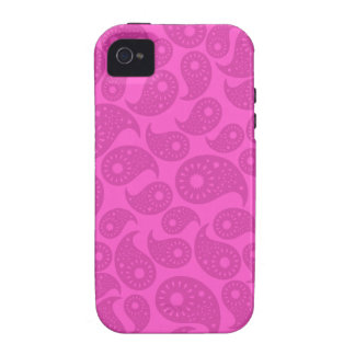 Hot Pink Paisley. Case-Mate iPhone 4 Cases