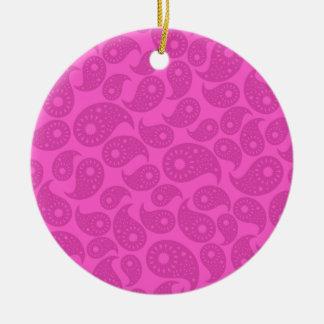Hot Pink Paisley. Ornaments
