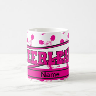 Hot Pink Personalize Cheerleader Design Coffee Mug