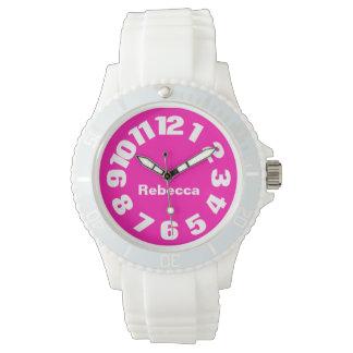 Hot Pink Personalized Women's Watch