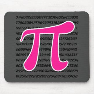 Hot Pink Pi Symbol Mouse Pad